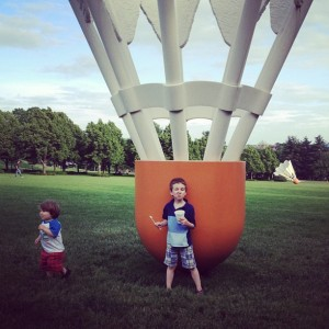 Ivan & Elias at the Nelson-Atkins Museum